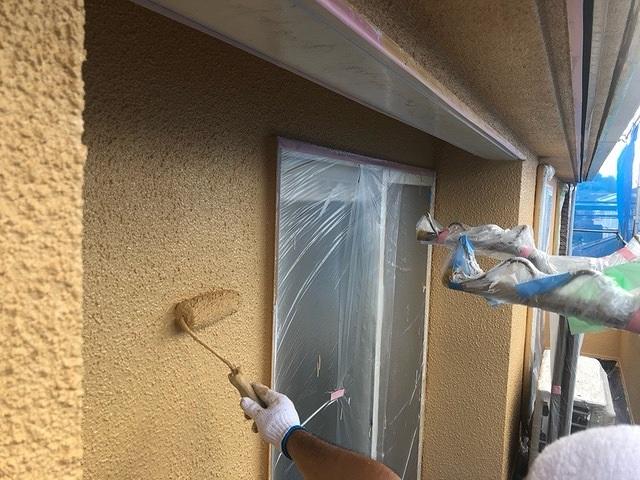 外壁塗装 モルタル 3回塗り 上塗り セミフロンスーパーアクアⅡ