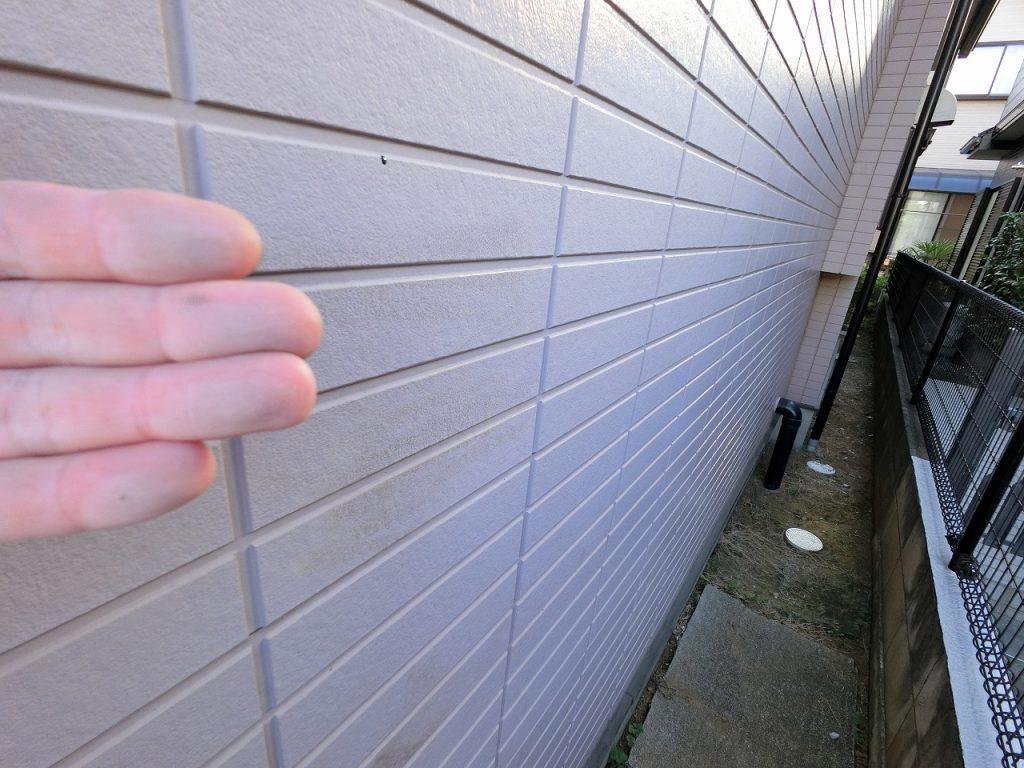 診断 外壁 窯業サイディング チョーキング 汚染 劣化