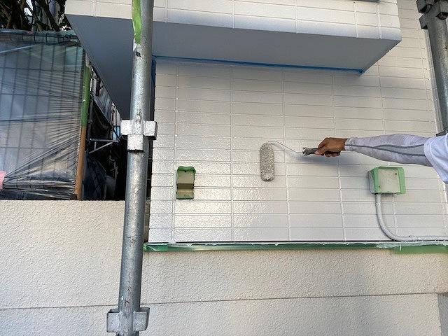 外壁塗装 窯業サイディング 3回塗り 上塗り ファインパーフェクトトップ