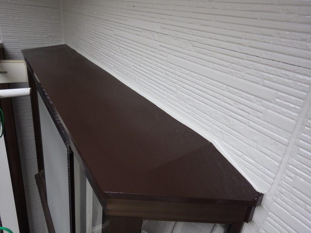 検査 出窓上 外壁 窯業サイディング