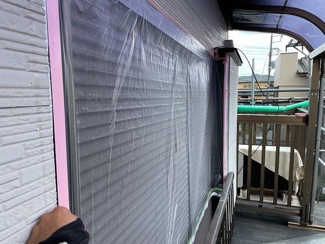 養生 保護 外壁塗装 窯業サイディング