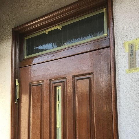 千葉市花見川区 M様邸 玄関ドア塗装サムネイル