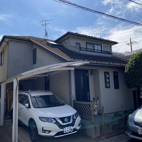 八千代市 外壁塗装 モルタル 屋根塗装 新生スレート瓦 付帯部塗装
